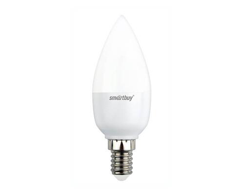 Лампа светодиодная SmartBuy SBL 6000K, E14, C37, 7Вт