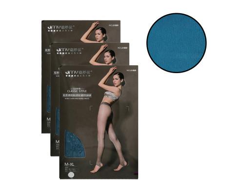 Женские колготки JMY (рост 150-175 см, таллия 85-110 см, цвет темный бирюзовый, комплект 3 пары)