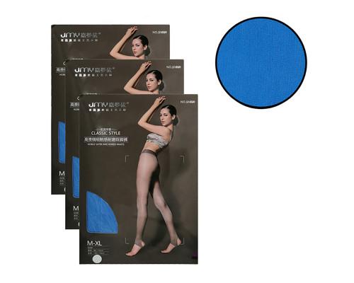 Женские колготки JMY (рост 150-175 см, таллия 85-110 см, цвет голубой, комплект 3 пары)