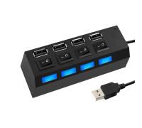 USB-разветвитель UH2 на 4 разъема USB 2.0 с включателями и LED-подсветкой