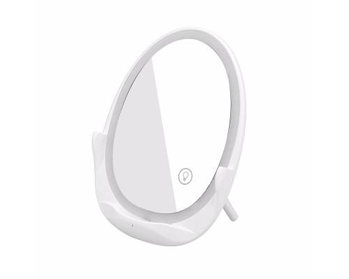 Беспроводное зарядное устройство для смартфонов с зеркалом и подсветкой, белое