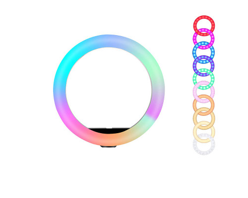Кольцевая лампа RGB 26 см