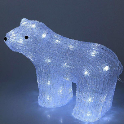 Фигурка световая Белый медведь, размером 30 см