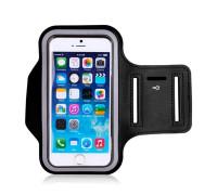 Чехол на руку универсальный для смартфона размером до 5.5, черный