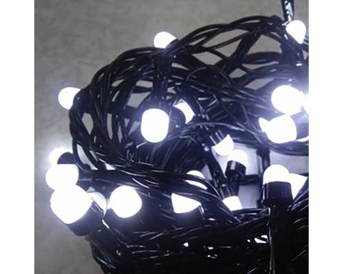Домашняя гирлянда Нить 140 ламп (матовых), 18 м, белые лампочки