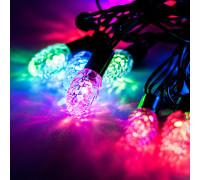 Электрогирлянда 9 м, 70 ламп, шишки размером 2.8 см, разноцветный свет
