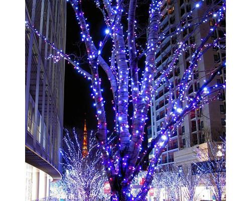 Гирлянда Нить уличная 70 ламп, 10 м голубая