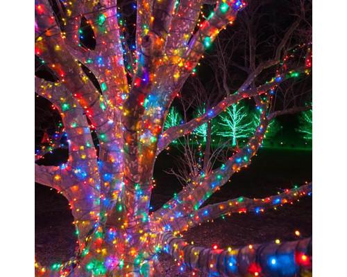Гирлянда Нить уличная 70 ламп, 10 м разноцветная