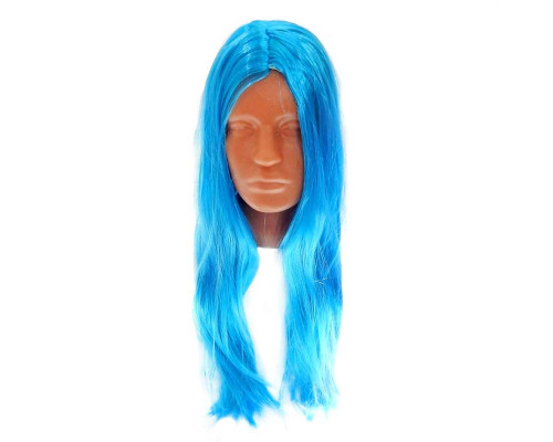 Карнавальный парик синий 60 см