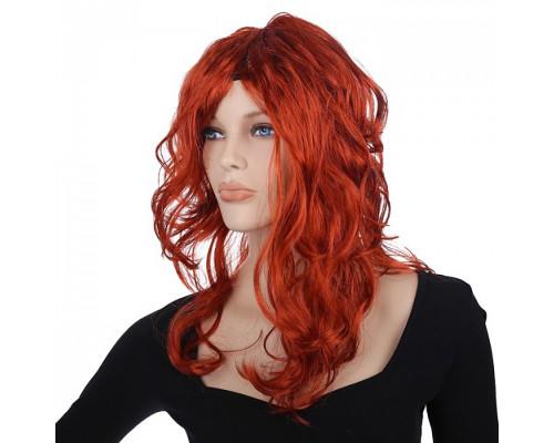 Карнавальный парик каштановый 60 см