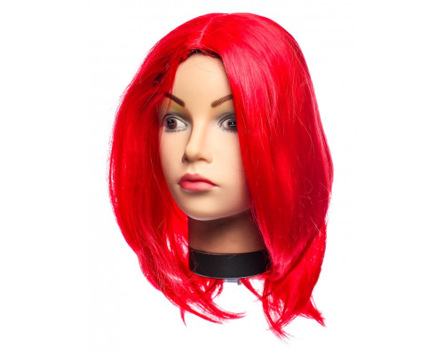 Карнавальный парик красный 60 см