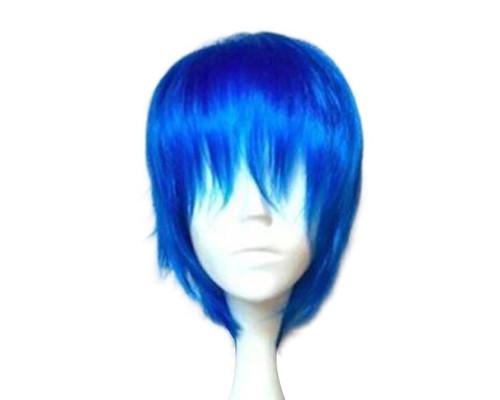 Карнавальный парик синий 26 см