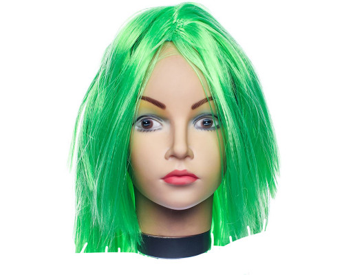 Карнавальный парик зеленый 26 см
