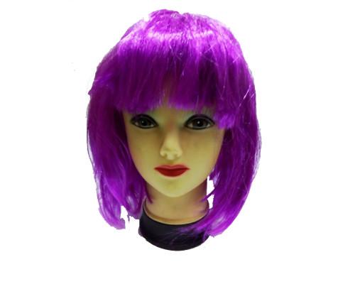 Карнавальный парик сиреневый 26 см