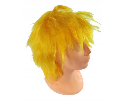 Карнавальный парик желтый 26 см