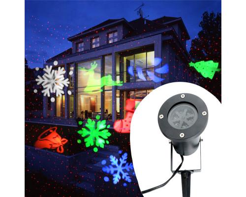 Новогодний лазерный проектор для улицы, новогодние фигуры