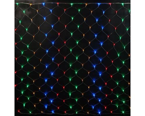Гирлянда Сетка 120 ламп, длина 2 м, высота 1.8 м разноцветная