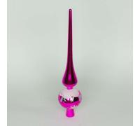Шпиль на елку розовый 28 см