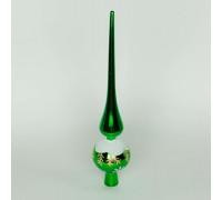 Шпиль на елку зеленый 28 см