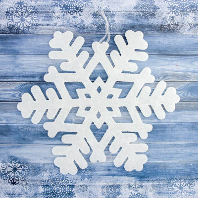 Снежинка белая 10 см, упаковка 10 шт