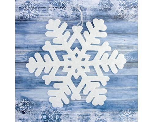 Снежинка белая 15 см, упаковка 8 шт