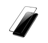 Защитное стекло для iPhone XR (вид - 3D, черная рамка, комплектация эконом)