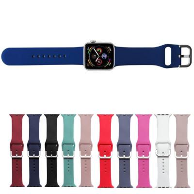 Ремешок Apple Watch 42 - 44 мм с металлическим креплением цветной