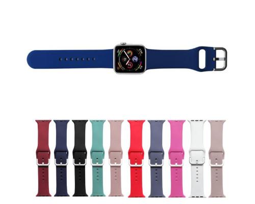 Ремешок для Apple Watch 42 - 44 мм с металлическим креплением цветной