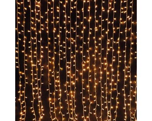 Гирлянда Занавес 210 ламп, длина 3 м, высота 2 м, желтый свет