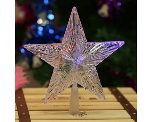 Наконечник Звезда на елку 15 см белый