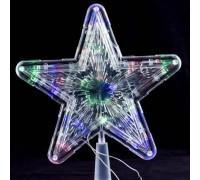 Наконечник Звезда на елку 23 см белый