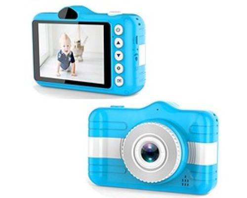 Детский цифровой фотоаппарат с двумя камерами + ремешок для ношения, синий