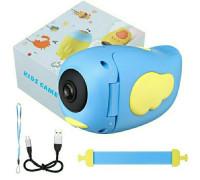 Детский фотоаппарат видеокамера Childrens с встроенными играми, голубой