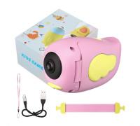 Детский фотоаппарат видеокамера Childrens с встроенными играми, розовый