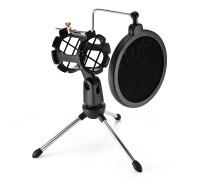 Настольный держатель для микрофона F-9 с акустическим фильтром, черный
