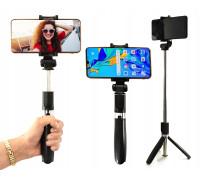 Штатив моноподом K21 для смартфонов с пультом bluetooth, вращением держателя на 360° настольный/напольный, черный
