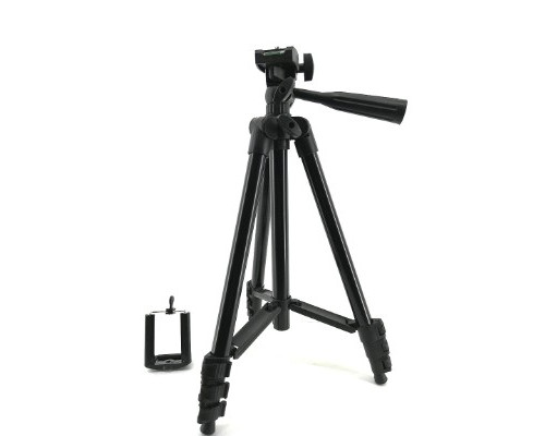 Штатив Tripod 3120 для камеры и телефона с пузырьковым уровнем, черный