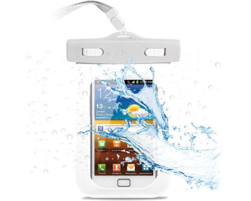 """Водонепроницаемый чехол-сумка для телефона до 6.5"""", универсальный, белый"""