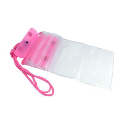 """Водонепроницаемый чехол для телефона до 6.5"""" на шею, универсальный, розовый"""