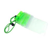 """Водонепроницаемый чехол для телефона до 6.5"""" на шею, универсальный, ярко зеленый"""