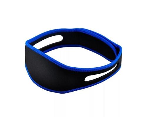 Повязка на голову антихрап Zband, эластичная, черно-синяя