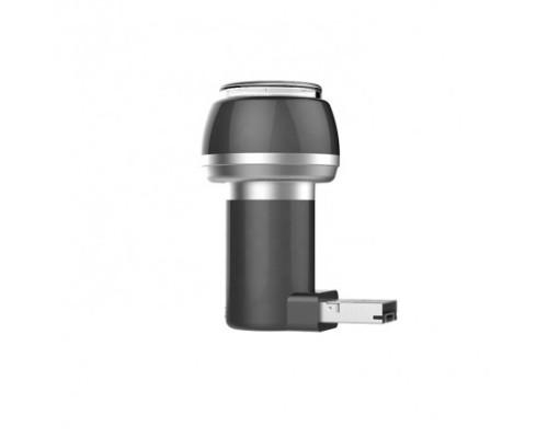 Портативная мини бритва USB + micro USB, серая
