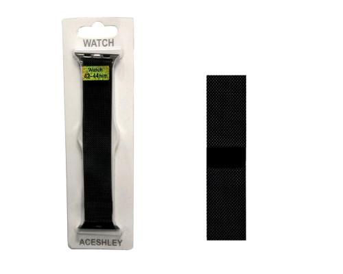 Ремешок для Apple Watch 42-44 мм черный ACESHLEY