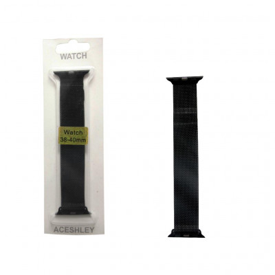 Ремешок для Apple Watch 38-40 мм черный ACESHLEY