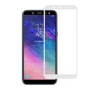 Защитное стекло для Samsung Galaxy A6 2018 5D белое