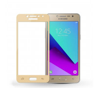 Защитное стекло для Samsung Galaxy J2 Prime 3D золотое