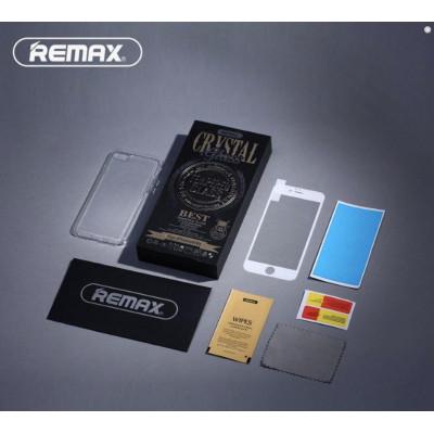 Защитное стекло для iPhone 6 Remax комплект стекло для 3D с прозрачным силиконовым чехлом