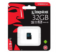Карта памяти microSD 32gb Kingston class 10 canvas 90 mb/s