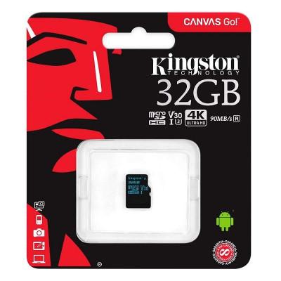 Карта памяти microSD 32gb Kingston class 10 canvas 90 mb/s