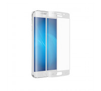 Защитное стекло для Samsung Galaxy S6 Edge 3D белое